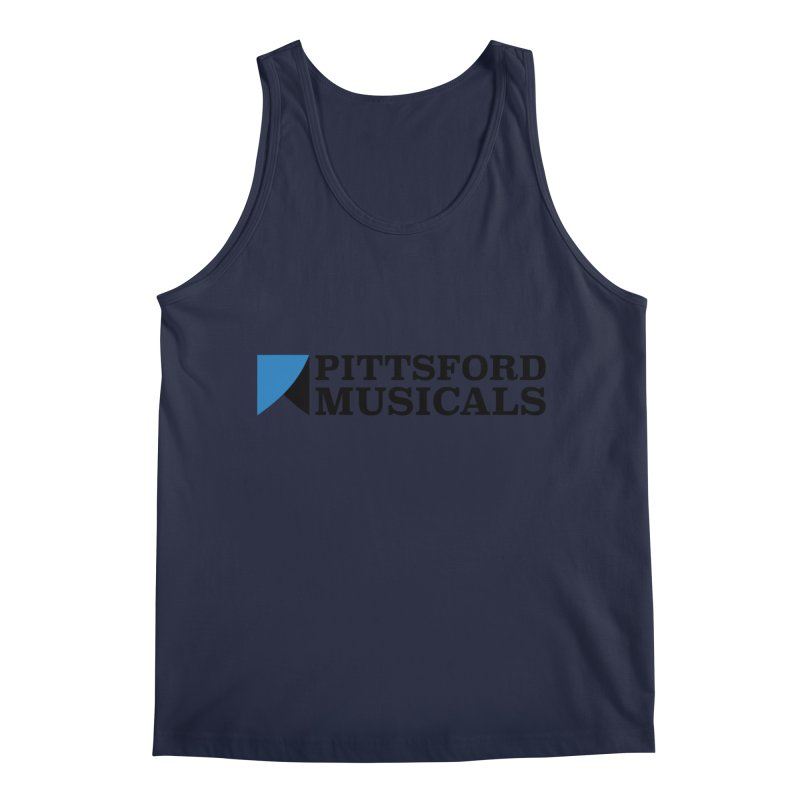 Main Logo - blue and black Men's Regular Tank by Pittsford Musicals