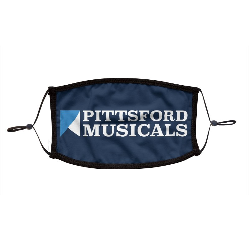 PM Logo in White Accessories Face Mask by Pittsford Musicals