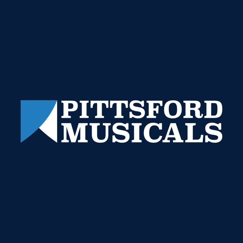 PM Logo In White Kids T-Shirt by Pittsford Musicals