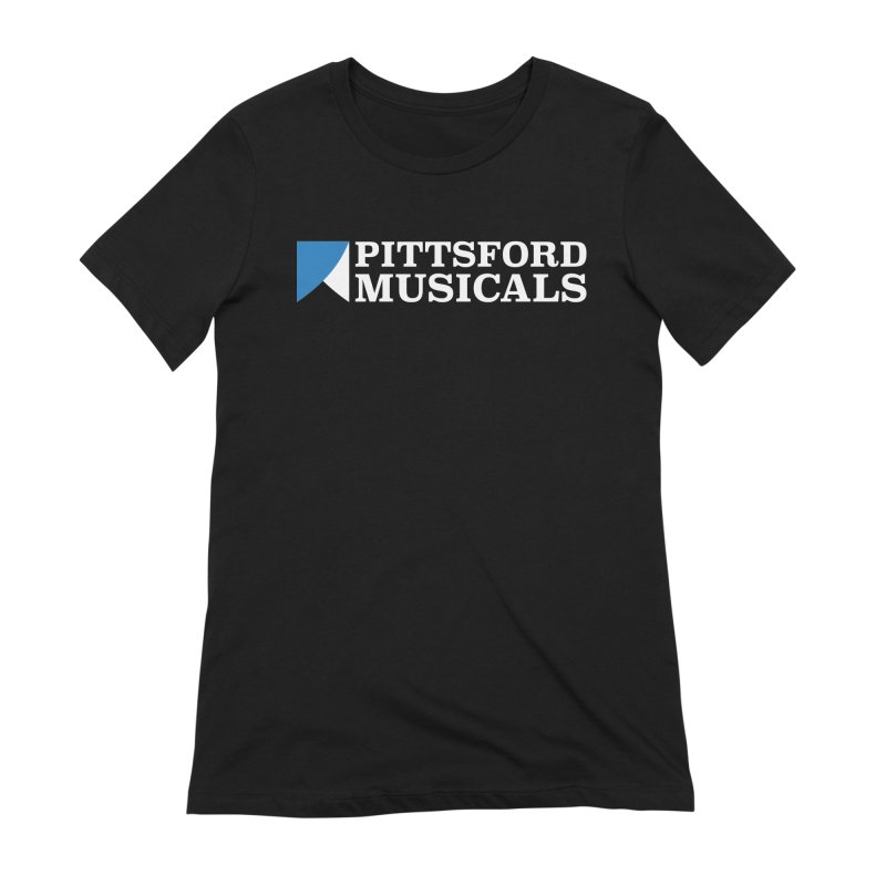 PM Logo In White in Women's Extra Soft T-Shirt Black by Pittsford Musicals