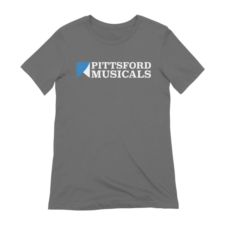 PM Logo In White Women's Extra Soft T-Shirt by Pittsford Musicals