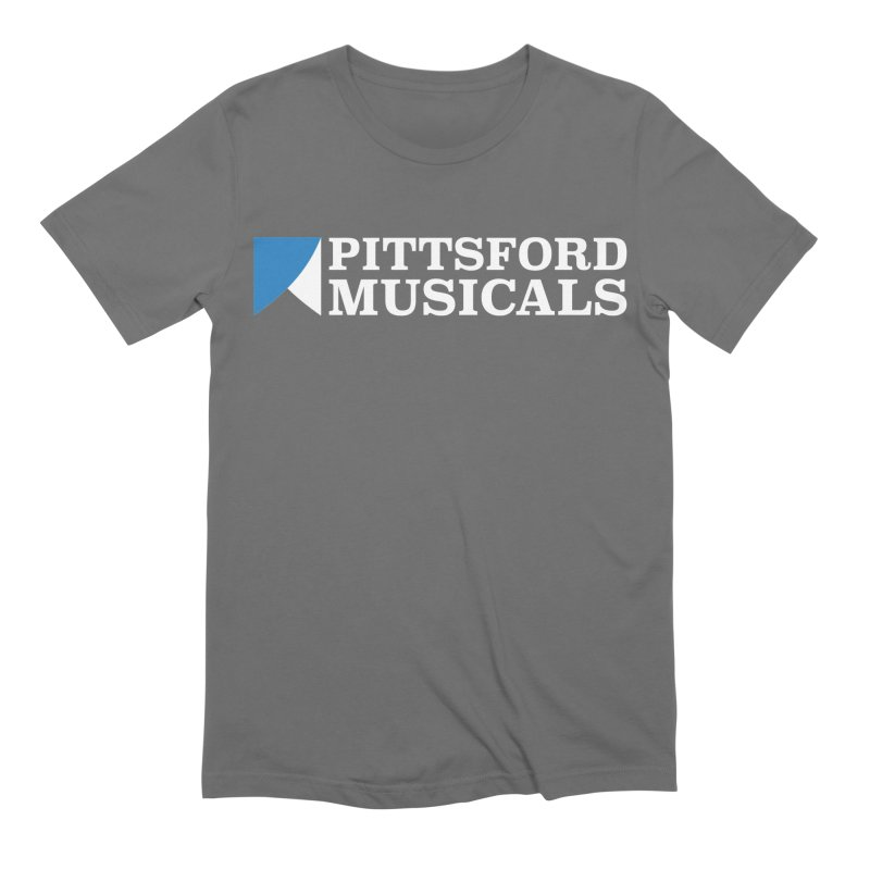 PM Logo In White Men's T-Shirt by Pittsford Musicals