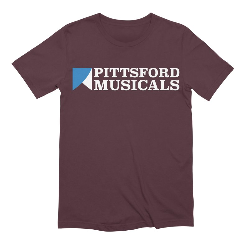 PM Logo In White Men's Extra Soft T-Shirt by Pittsford Musicals