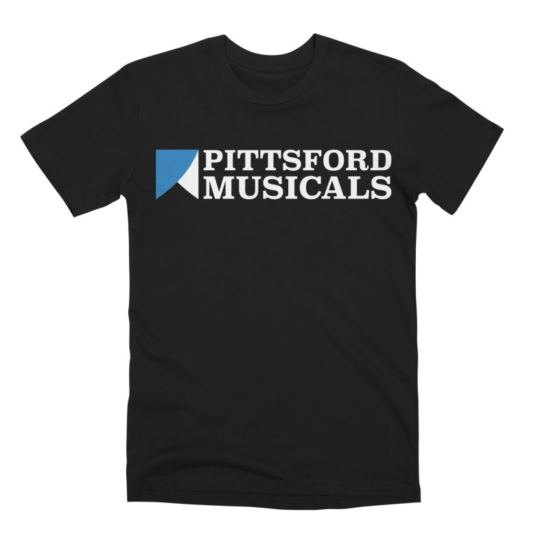 PM Logo In White Men's Premium T-Shirt by Pittsford Musicals