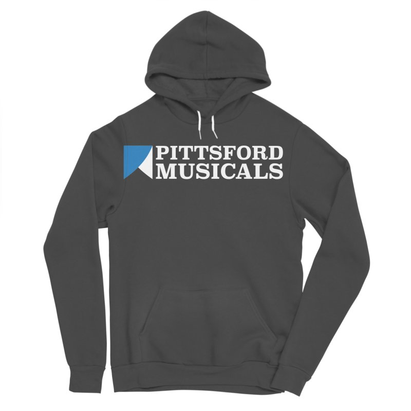 PM Logo In White Women's Sponge Fleece Pullover Hoody by Pittsford Musicals
