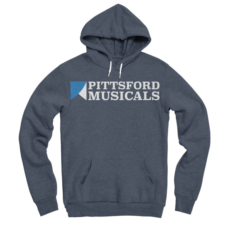 PM Logo In White Men's Sponge Fleece Pullover Hoody by Pittsford Musicals