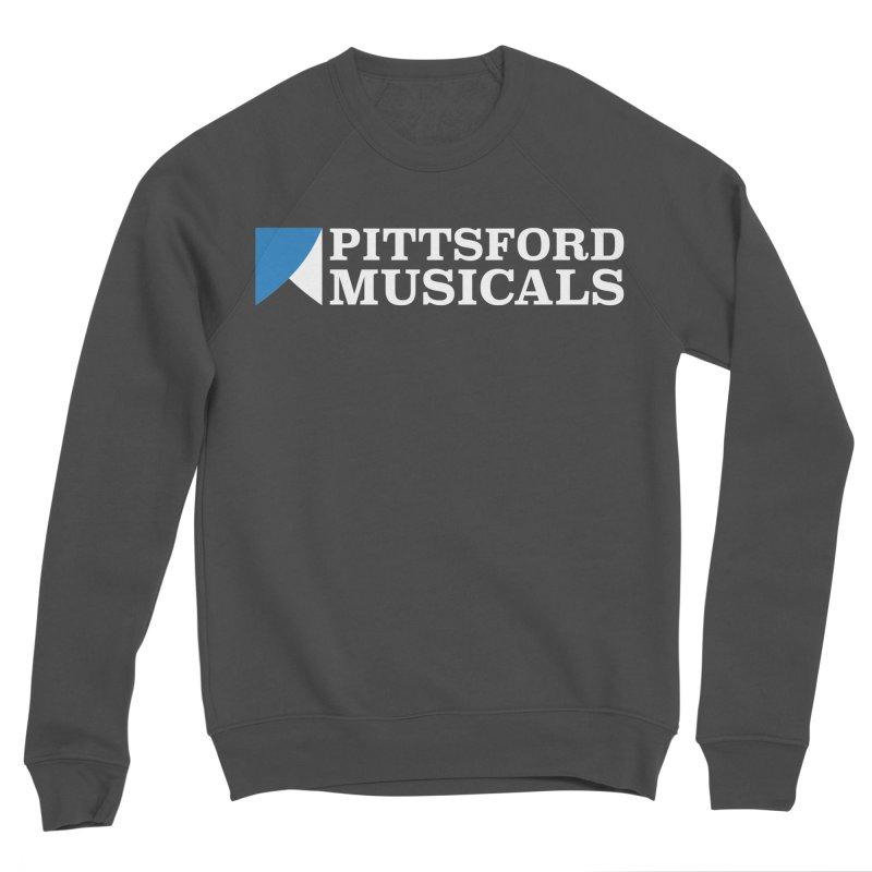 PM Logo In White Women's Sweatshirt by Pittsford Musicals
