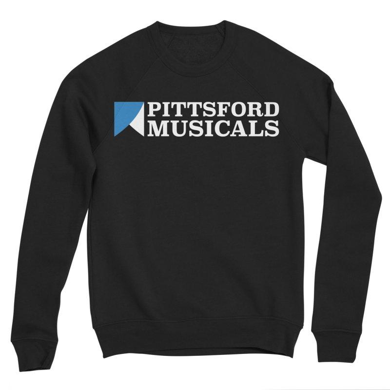 PM Logo In White Women's Sponge Fleece Sweatshirt by Pittsford Musicals