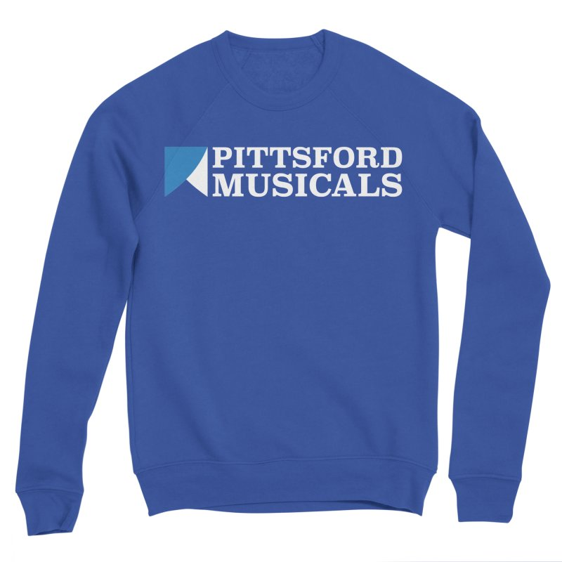 PM Logo In White Women's Sweatshirt by Pittsford Musicals