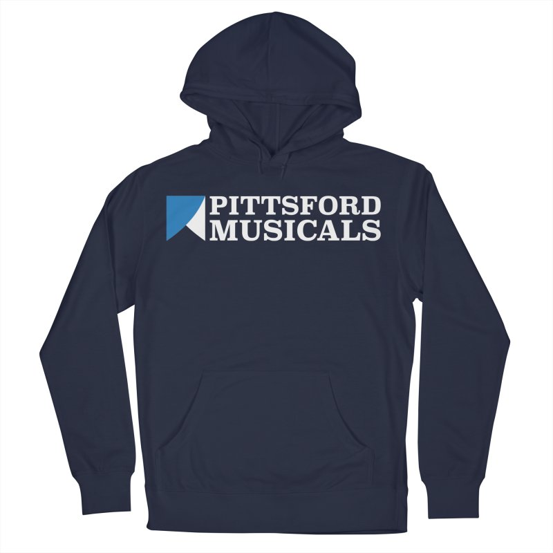 PM Logo In White Men's Pullover Hoody by Pittsford Musicals
