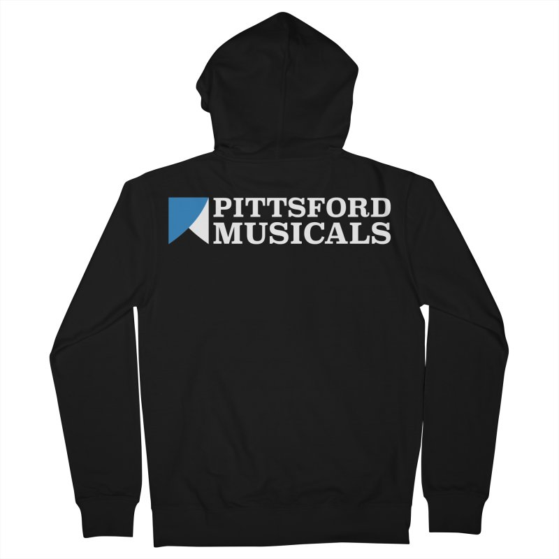 PM Logo In White Men's Zip-Up Hoody by Pittsford Musicals