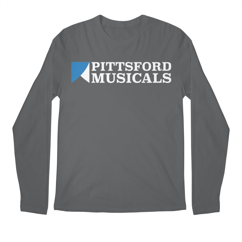 PM Logo In White Men's Longsleeve T-Shirt by Pittsford Musicals