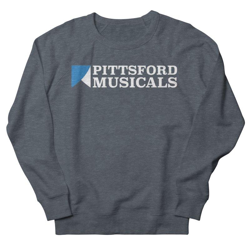PM Logo In White Men's Sweatshirt by Pittsford Musicals