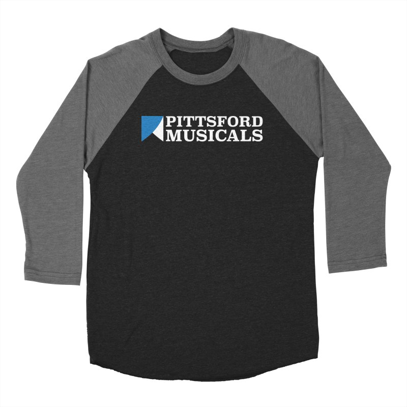 PM Logo In White Men's Baseball Triblend Longsleeve T-Shirt by Pittsford Musicals
