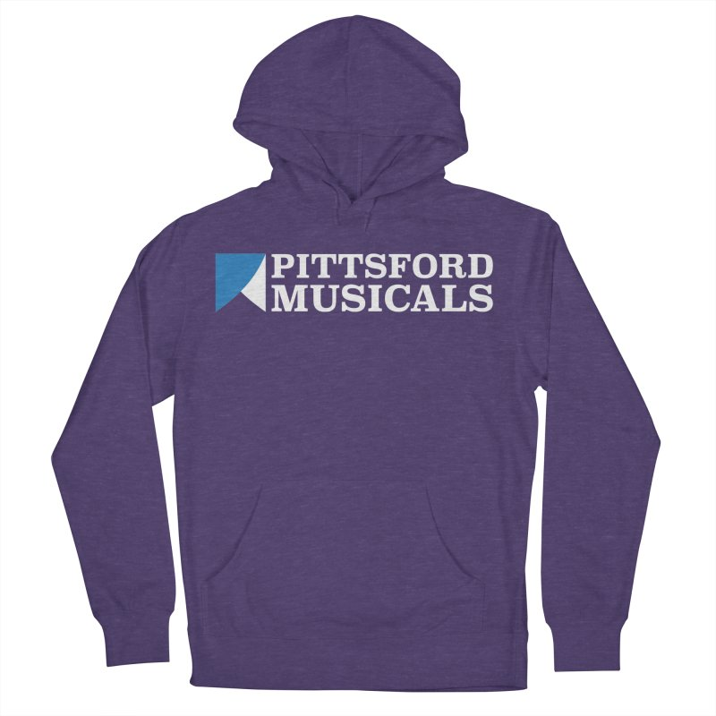PM Logo In White Women's Pullover Hoody by Pittsford Musicals