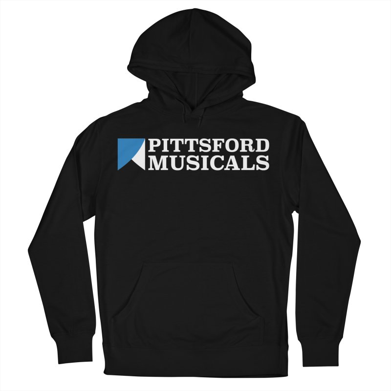 PM Logo In White Women's French Terry Pullover Hoody by Pittsford Musicals