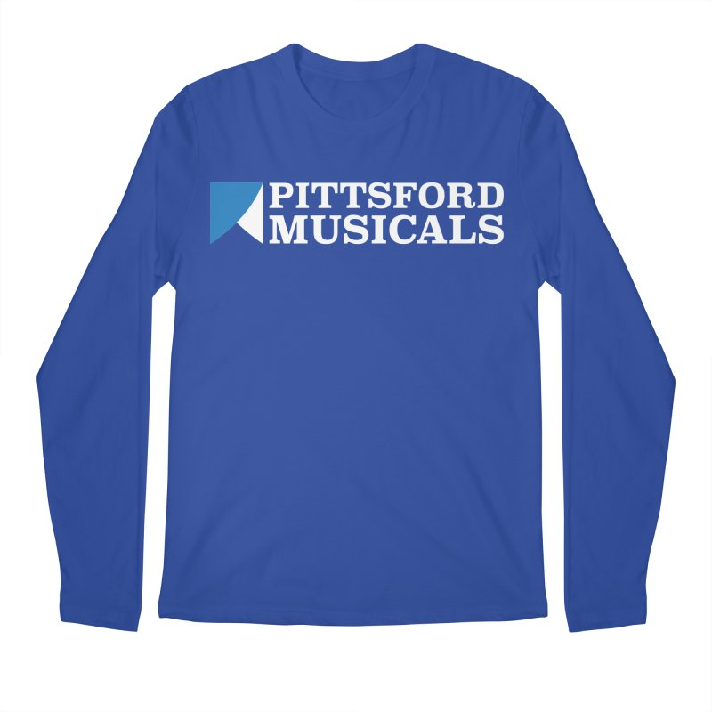 PM Logo In White Men's Regular Longsleeve T-Shirt by Pittsford Musicals
