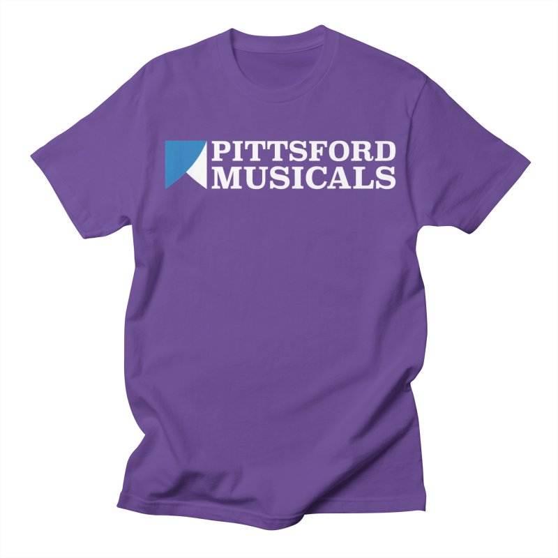 PM Logo In White Men's Regular T-Shirt by Pittsford Musicals