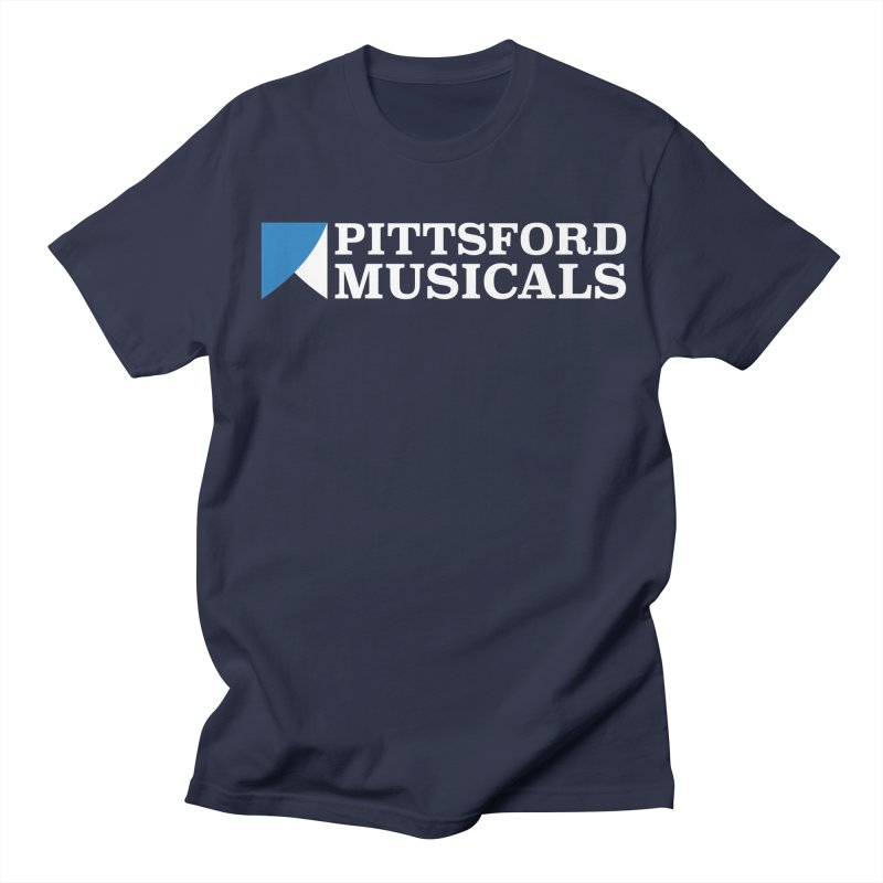 PM Logo In White Women's Regular Unisex T-Shirt by Pittsford Musicals
