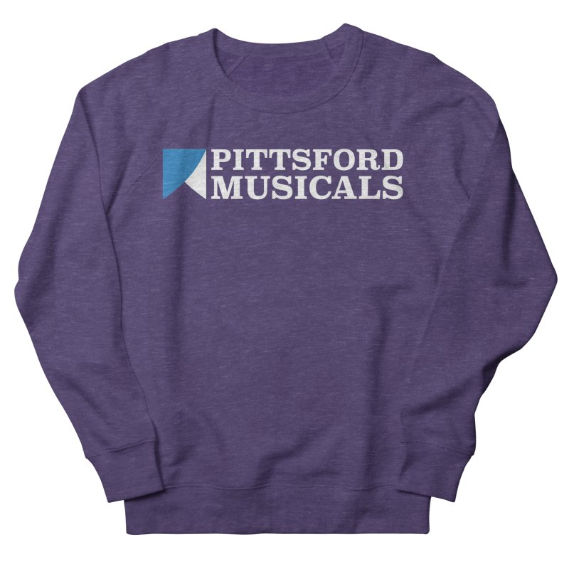 PM Logo In White Women's French Terry Sweatshirt by Pittsford Musicals