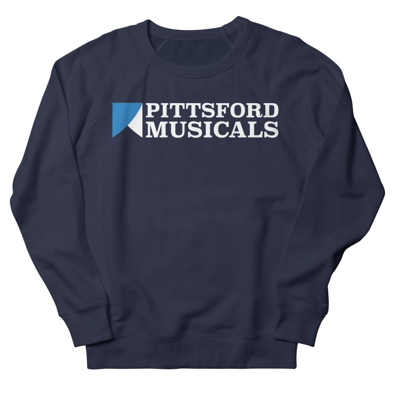 PM Logo In White Men's French Terry Sweatshirt by Pittsford Musicals