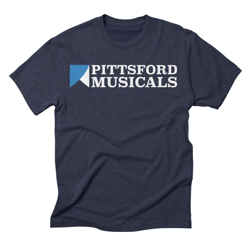 PM Logo In White Men's Triblend T-Shirt by Pittsford Musicals