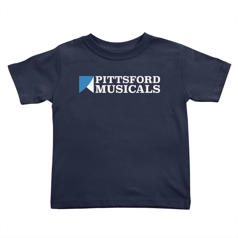 PM Logo In White Kids Toddler T-Shirt by Pittsford Musicals