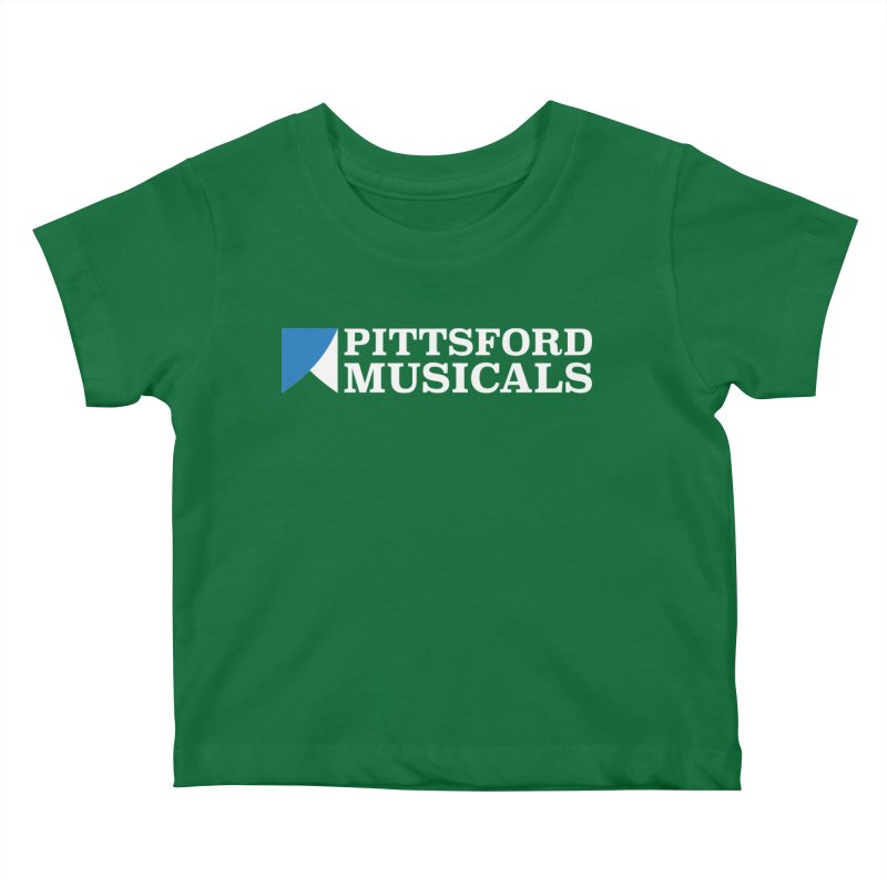 PM Logo In White Kids Baby T-Shirt by Pittsford Musicals