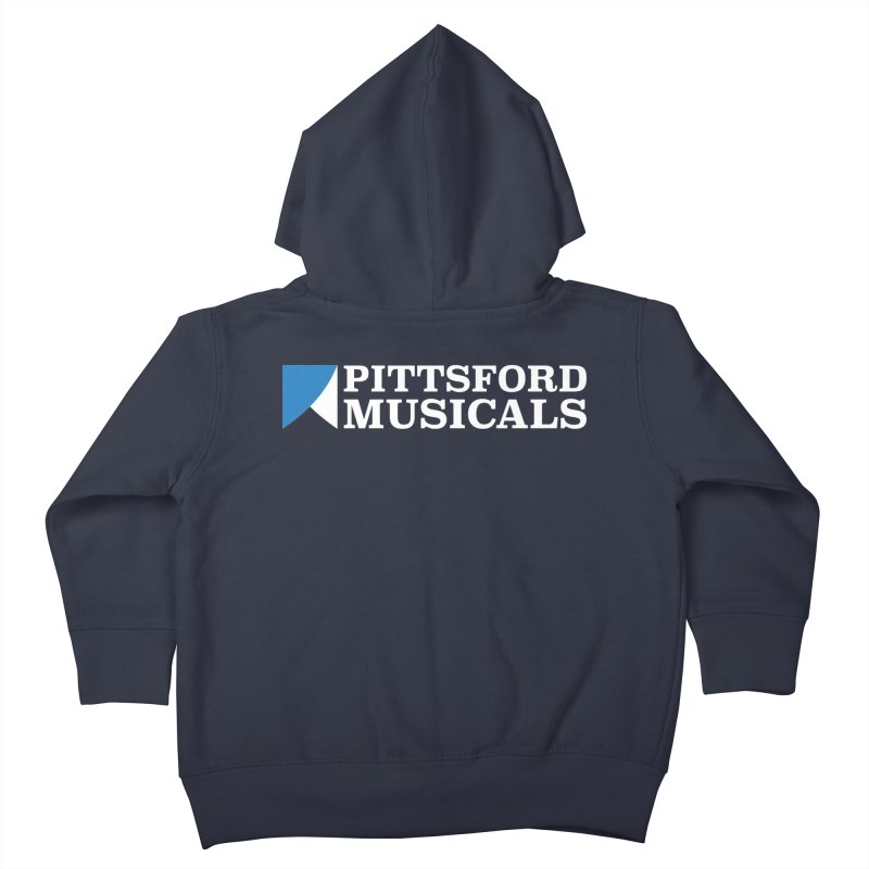 PM Logo In White Kids Toddler Zip-Up Hoody by Pittsford Musicals