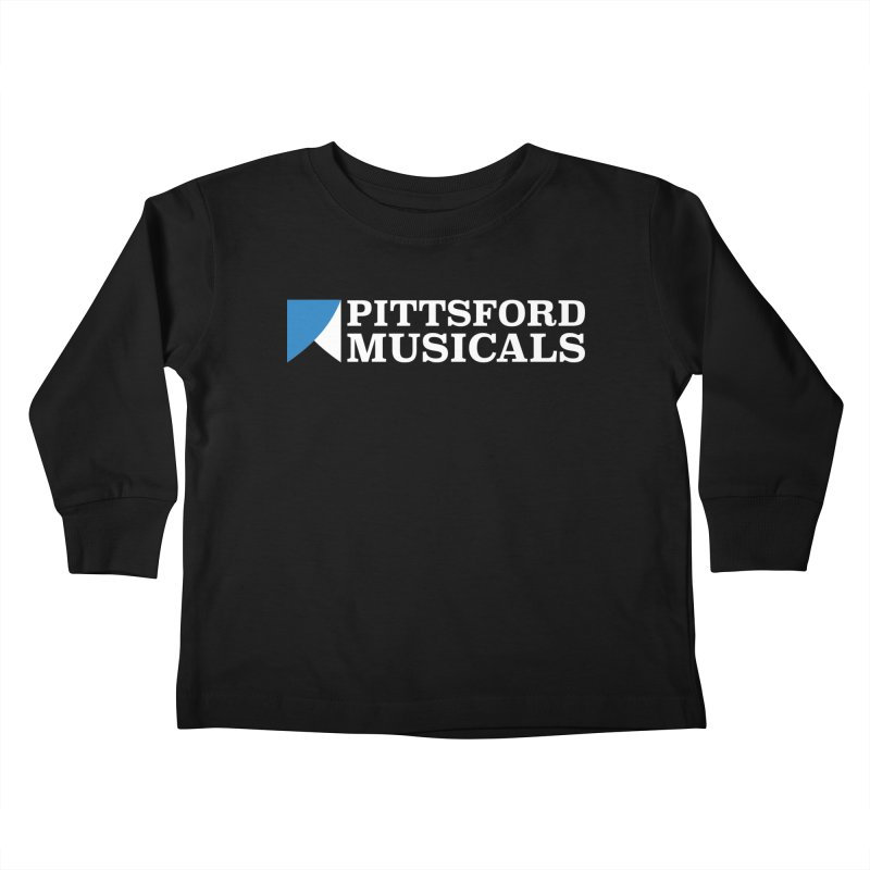PM Logo In White Kids Toddler Longsleeve T-Shirt by Pittsford Musicals