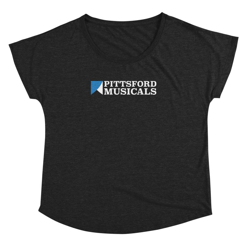 PM Logo In White Women's Scoop Neck by Pittsford Musicals