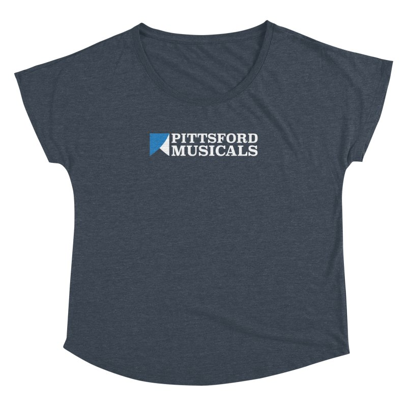 PM Logo In White Women's Dolman Scoop Neck by Pittsford Musicals