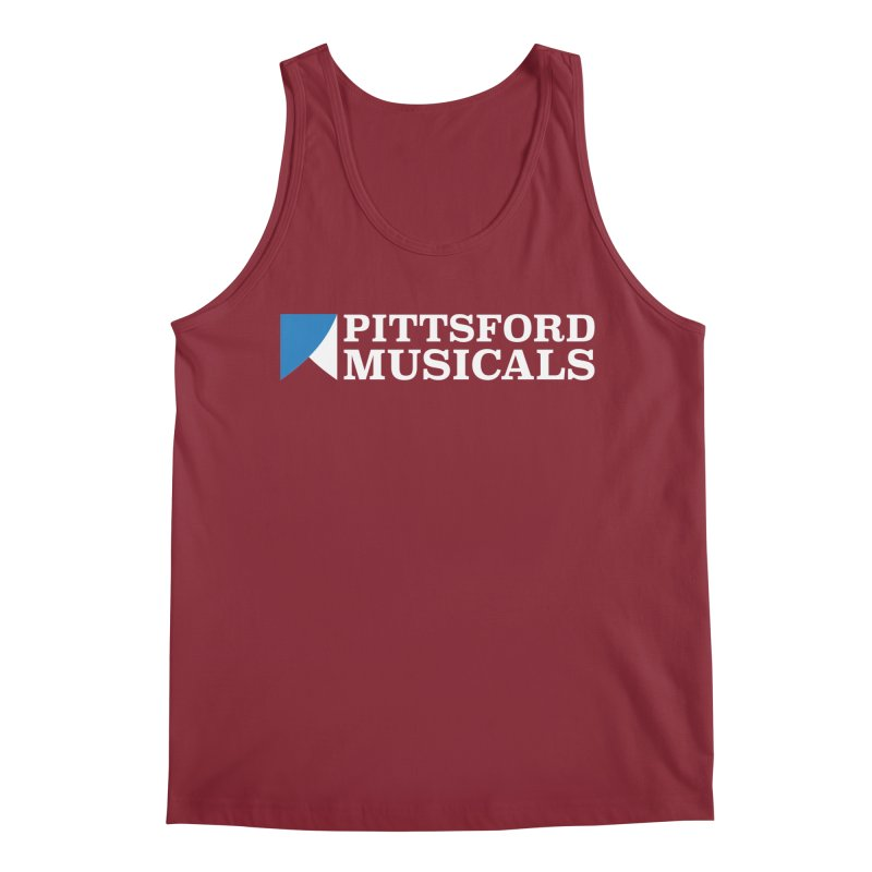 PM Logo In White Men's Tank by Pittsford Musicals