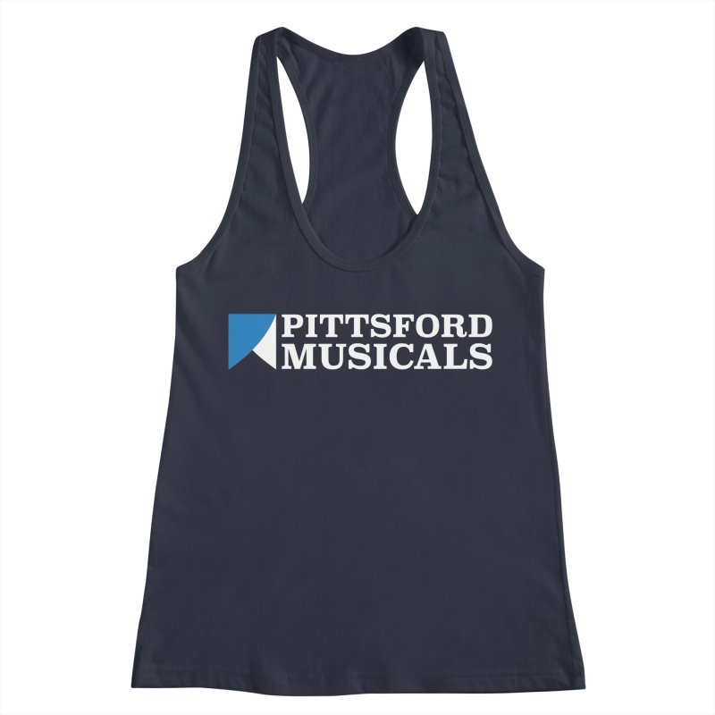 PM Logo In White Women's Tank by Pittsford Musicals