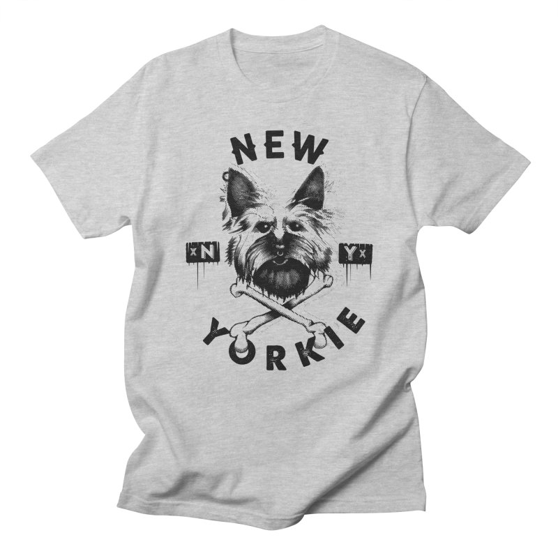 New Yorkie  + in Women's Regular Unisex T-Shirt Heather Grey by PITU'S SHOP
