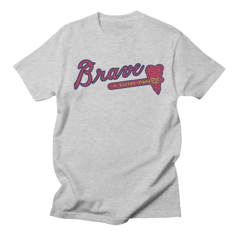Brave Heart  + in Men's Regular T-Shirt Heather Grey by PITU'S SHOP