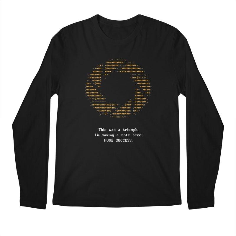 Aperture - Huge Success ASCII art - for dark fabric Men's Regular Longsleeve T-Shirt by Pixel and Poly's Artist Shop