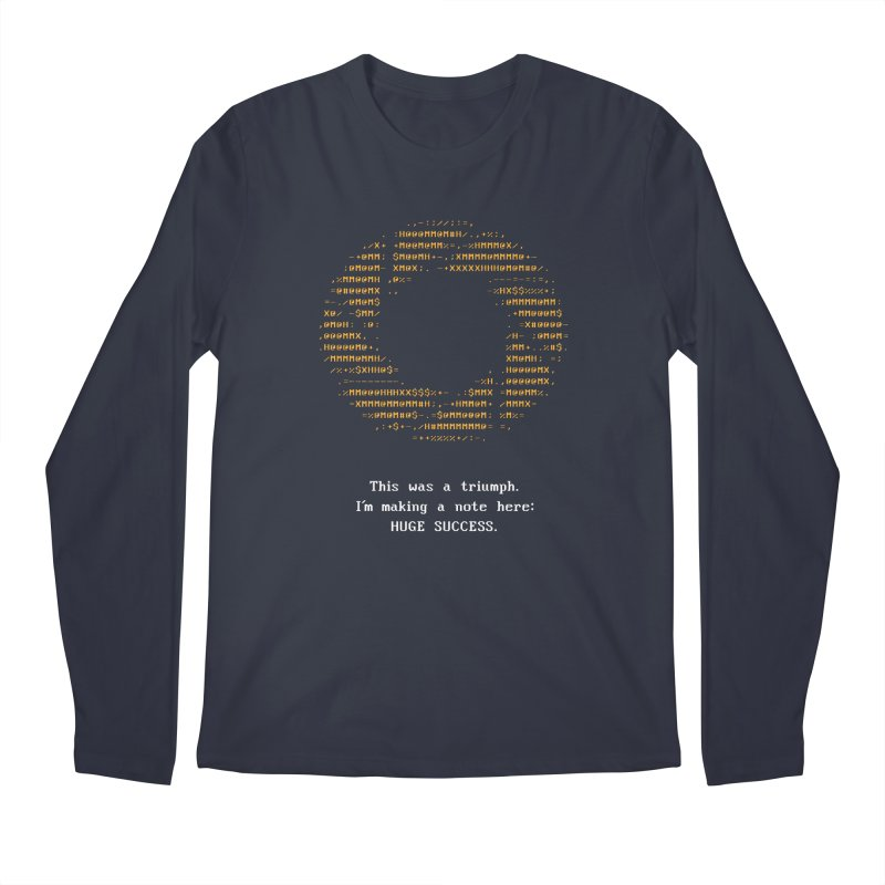 Aperture - Huge Success ASCII art - for dark fabric   by Pixel and Poly's Artist Shop