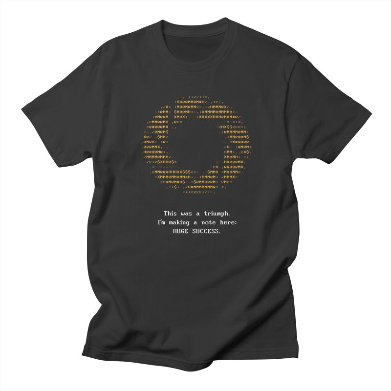 Aperture - Huge Success ASCII art - for dark fabric in Men's T-Shirt Smoke by Pixel and Poly's Artist Shop