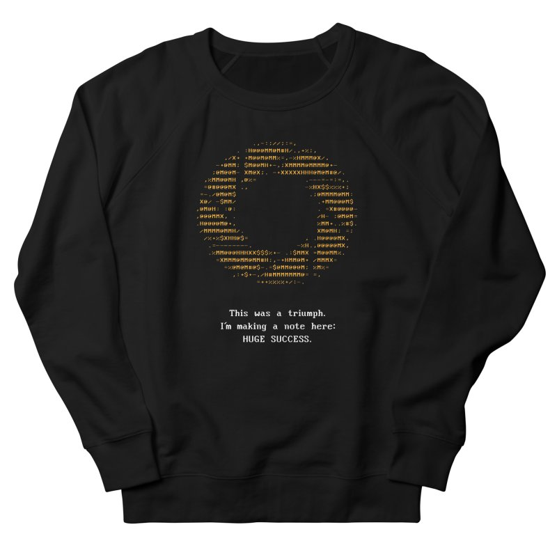 Aperture - Huge Success ASCII art - for dark fabric Men's French Terry Sweatshirt by Pixel and Poly's Artist Shop
