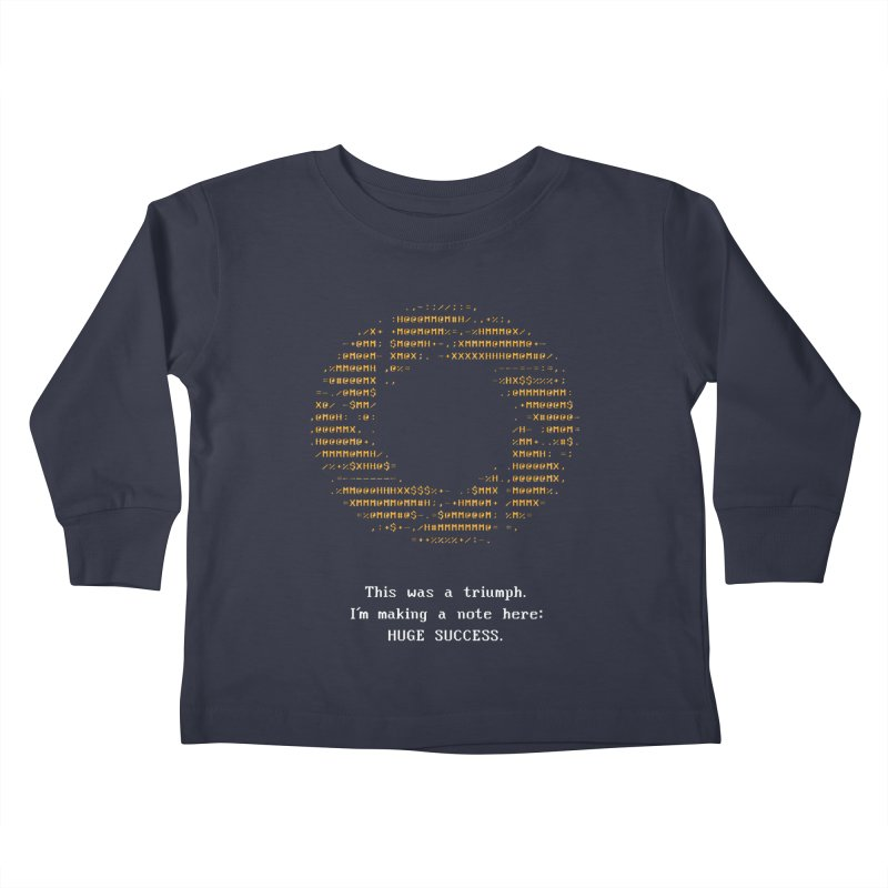 Aperture - Huge Success ASCII art - for dark fabric Kids by Pixel and Poly's Artist Shop