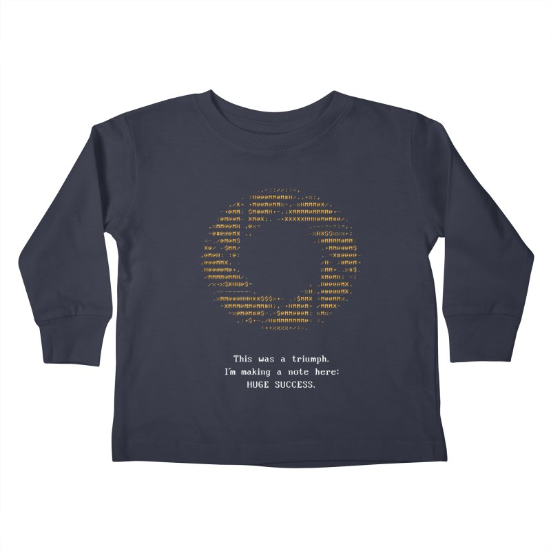 Aperture - Huge Success ASCII art - for dark fabric Kids Toddler Longsleeve T-Shirt by Pixel and Poly's Artist Shop