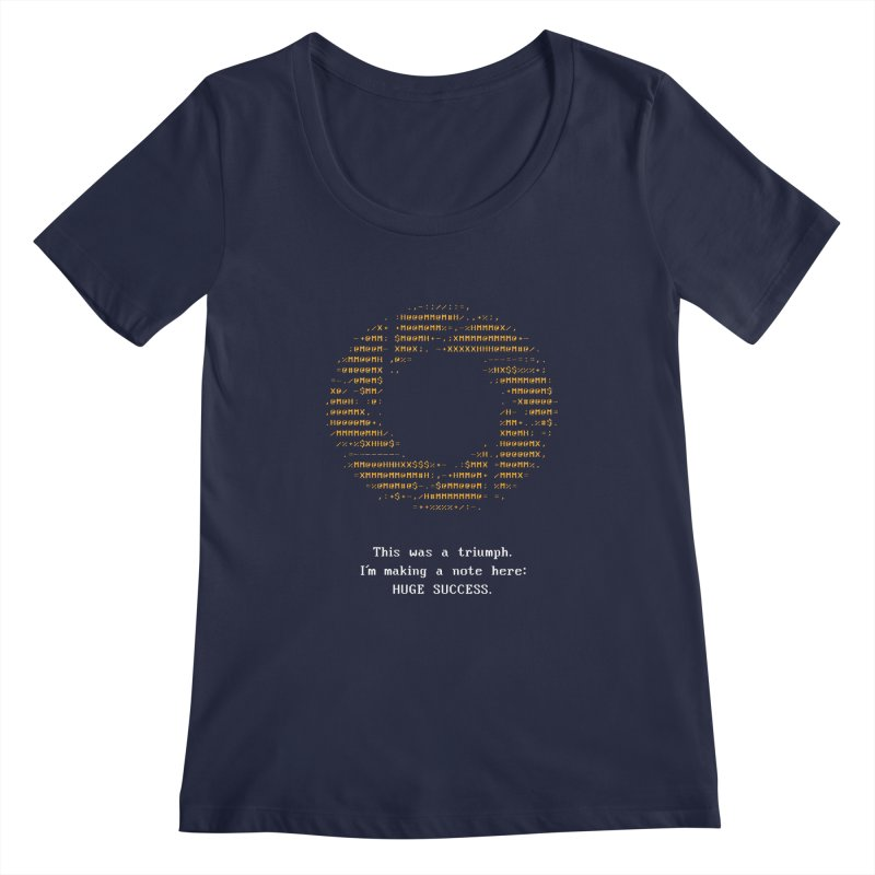 Aperture - Huge Success ASCII art - for dark fabric Women's Regular Scoop Neck by Pixel and Poly's Artist Shop
