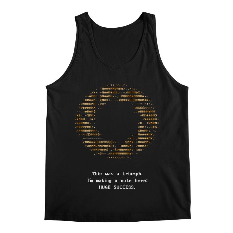 Aperture - Huge Success ASCII art - for dark fabric Men's Regular Tank by Pixel and Poly's Artist Shop
