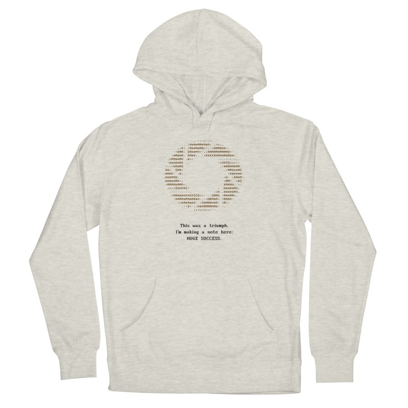 Aperture - Huge Success ASCII art - for light fabric Women's French Terry Pullover Hoody by Pixel and Poly's Artist Shop