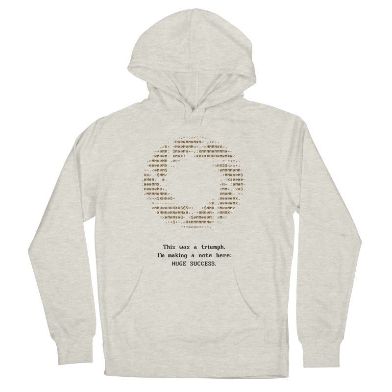 Aperture - Huge Success ASCII art - for light fabric Men's Pullover Hoody by Pixel and Poly's Artist Shop
