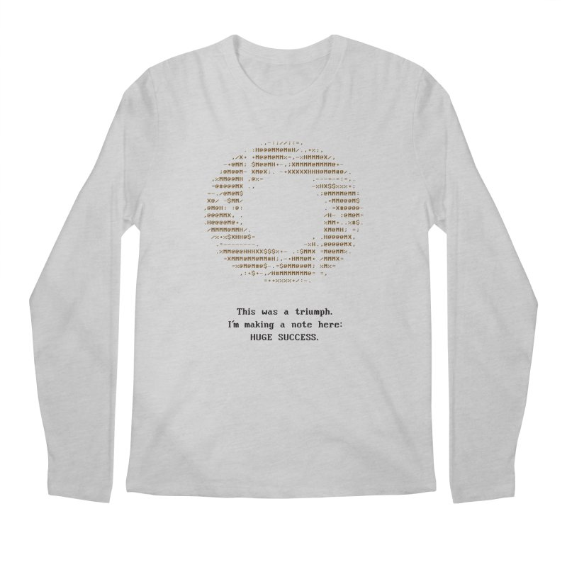 Aperture - Huge Success ASCII art - for light fabric Men's Longsleeve T-Shirt by Pixel and Poly's Artist Shop