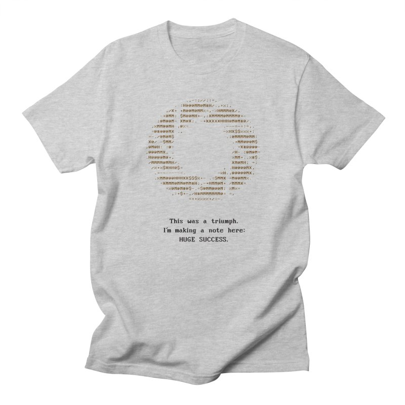 Aperture - Huge Success ASCII art - for light fabric in Men's Regular T-Shirt Heather Grey by Pixel and Poly's Artist Shop