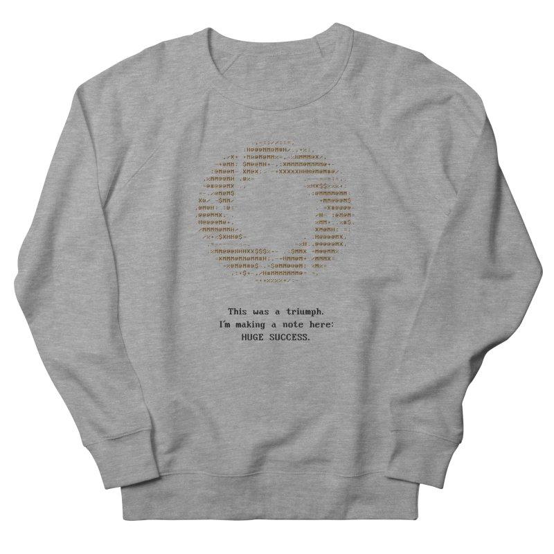 Aperture - Huge Success ASCII art - for light fabric Men's Sweatshirt by Pixel and Poly's Artist Shop