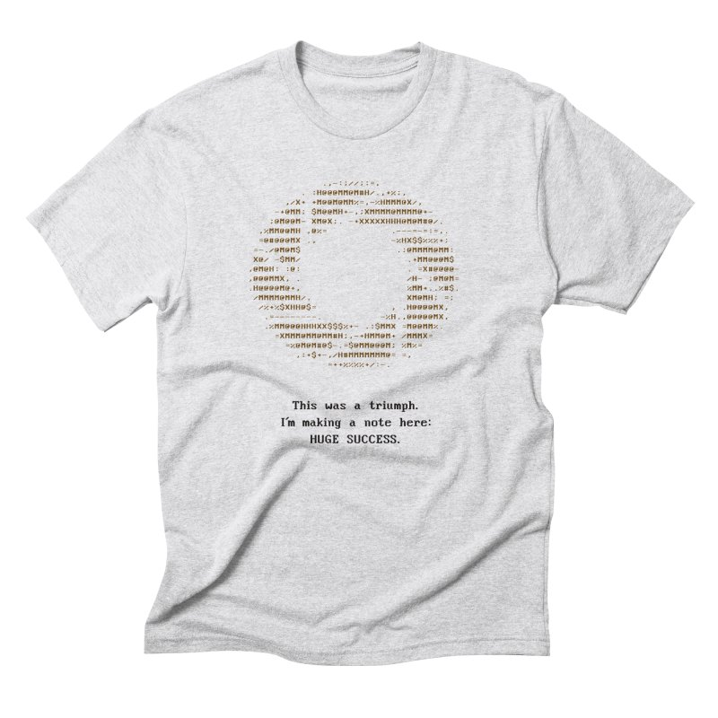 Aperture - Huge Success ASCII art - for light fabric Men's T-Shirt by Pixel and Poly's Artist Shop